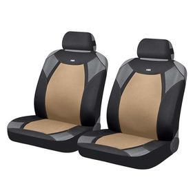 Накидки, на переднее сиденье, VIPER FRONT, бежевый, черный, серый, полиэстер