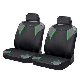 Накидки, на переднее сиденье, VIPER GLOSSY FRONT, черный, серый, зелёный, полиэстер