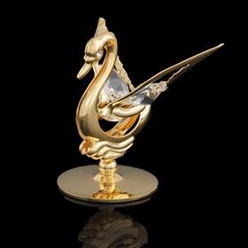 Сувенир «Лебедь», 4,5×4.5×5 см, с кристаллами Сваровски, 5 см Ош