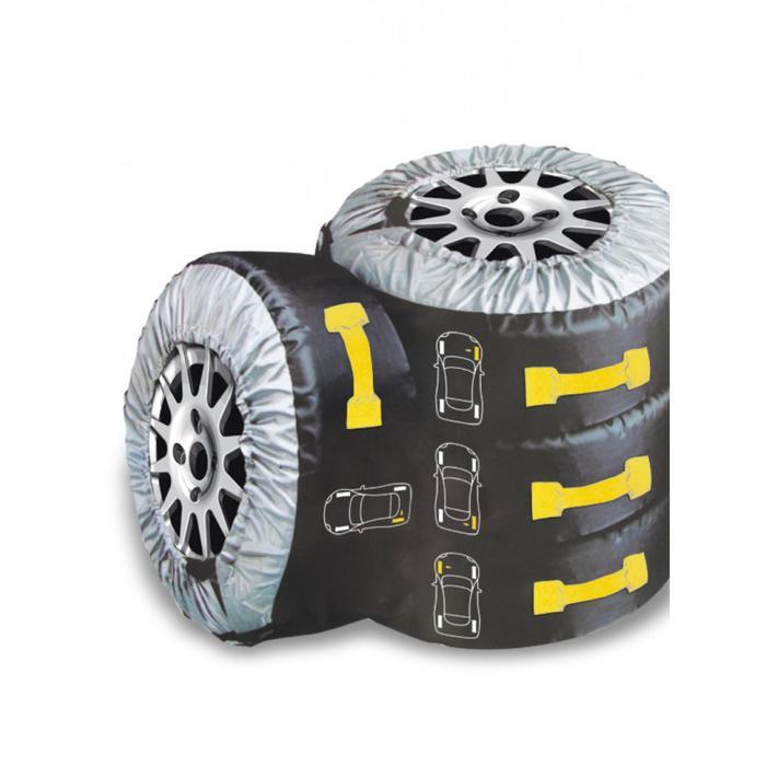 Авточехлы для хранения колес BOXER, R13-R17, 4 шт капрон