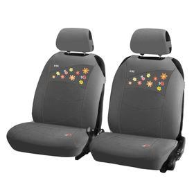 Накидки, на переднее сиденье, BEETLES FRONT, серый, трикотаж Ош