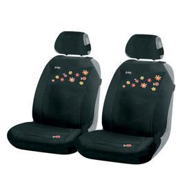 Накидки, на переднее сиденье, BEETLES FRONT, черный, трикотаж Ош
