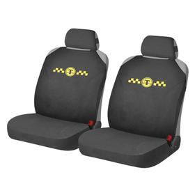 Накидки, на переднее сиденье, HOTPRINT TAXI, черный, трикотаж