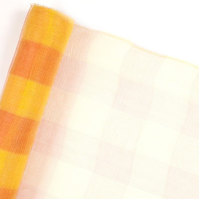 """Cетка для цветов """"Клетка"""", оранжево-жёлтая, 53 см x 7 м"""