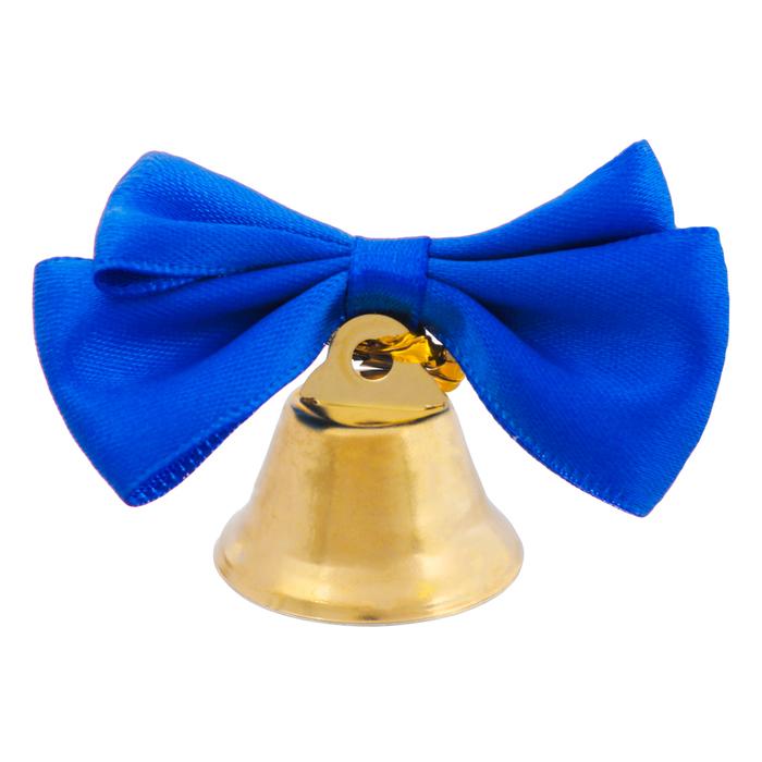 купить Колокольчик с тёмно-синей бабочкой, d2,6 см