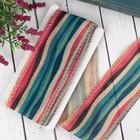 Лента из джута «Полосы», 60 мм, 5±1м, разноцветная