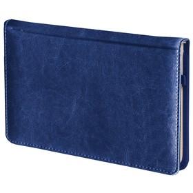 Ежедневник недатированный А6, 72 листа, BRAUBERG Imperial, под гладкую кожу, синий Ош