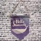 Панно подвесное Hello summer, рисунок Кит, 26х30 см