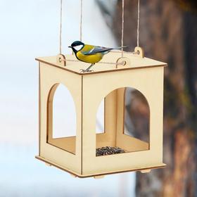 Кормушка для птиц, 13 × 13 × 15,5 см, Greengo