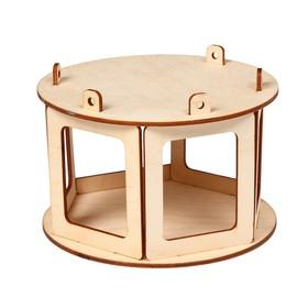 Кормушка для птиц «Беседка», 20 × 20 × 12 см