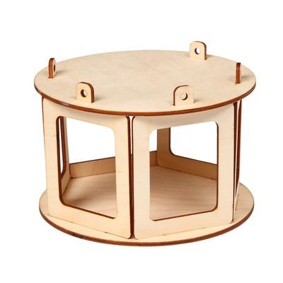 Кормушка для птиц «Беседка», 20 × 20 × 12 см - Фото 1