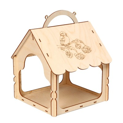 Кормушка для птиц «Птица на рябине», 21 × 22 × 27 см, Greengo
