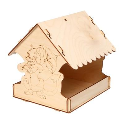 Кормушка для птиц «Лисичка с зонтиком», 22 × 20 × 22 см - Фото 1