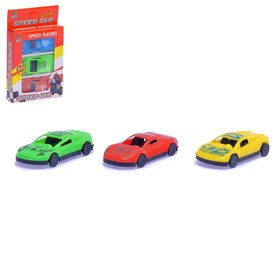 Машина «Гонка», набор 3 шт., цвет МИКС Ош