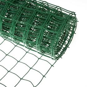 Сетка садовая, 1 × 10 м, ячейка 8.3 × 8.3 см, зелёная Ош