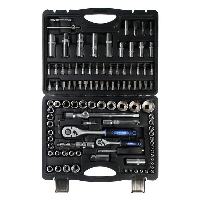 купить Набор инструментов в кейсе TUNDRA, автомобильный, CrV, 12 и 14, 108 предметов