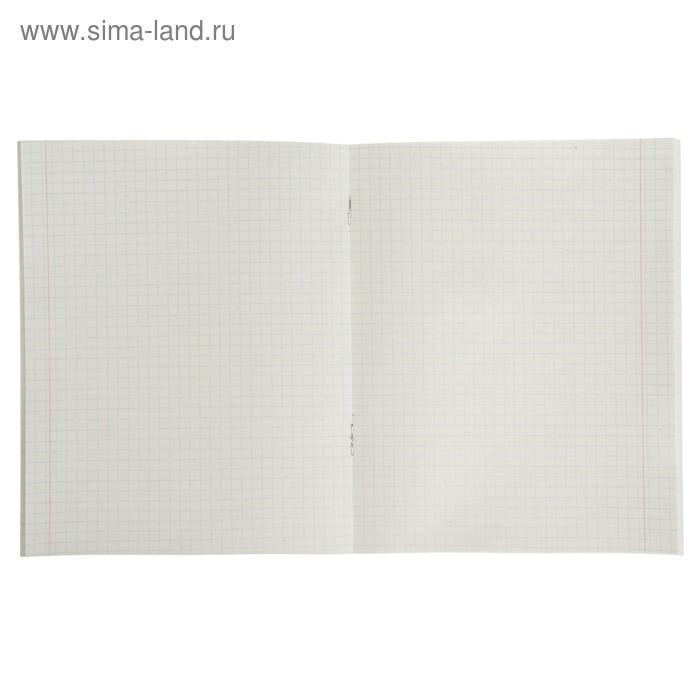 Тетрадь 48 листов в клетку «Шотландка», 2 блок, картонная обложка, микс