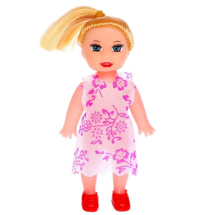 Кукла малышка Таня в платье, МИКС