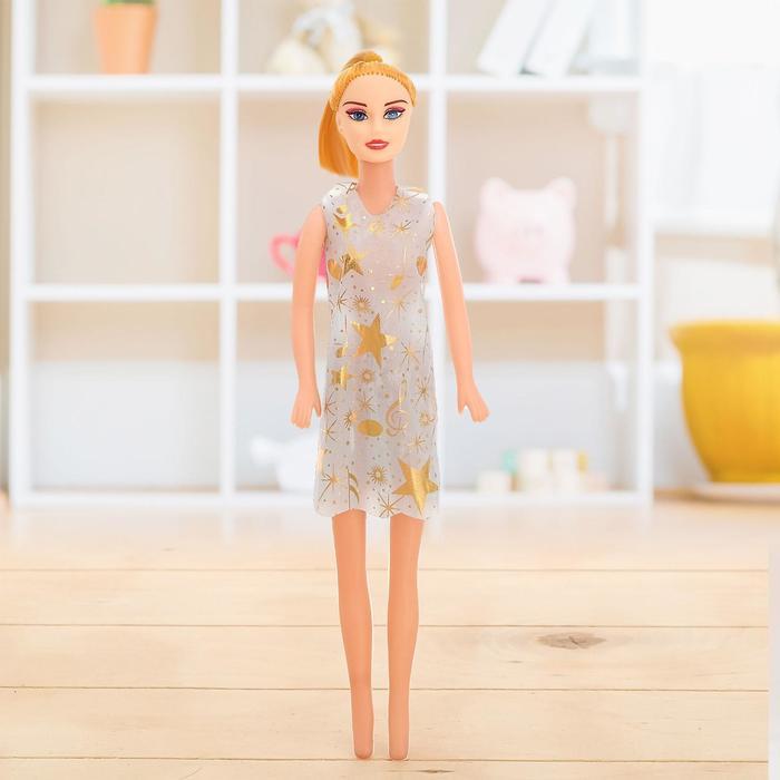 Кукла-модель Ира в платье, МИКС
