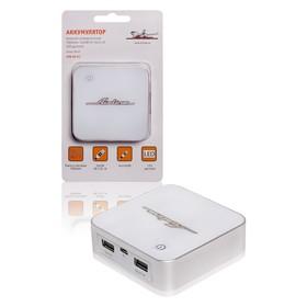 Аккумулятор внешний универсальный 7800мАч: 2хUSB 5V 1A+2.1A LED дисплей Ош