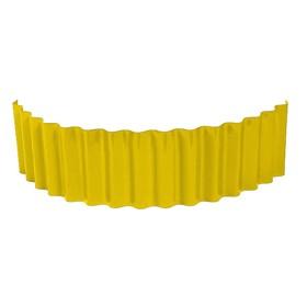 Ограждение для клумбы, 110 × 24 см, жёлтое, «Волна» Ош