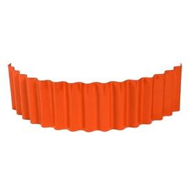 Ограждение для клумбы, 110 × 24 см, оранжевое, «Волна» Ош