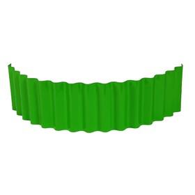 Ограждение для клумбы, 110 × 24 см, зелёное, «Волна» Ош