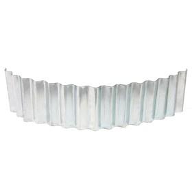 Ограждение для клумбы, 110 × 24 см, оцинкованное, «Волна» Ош