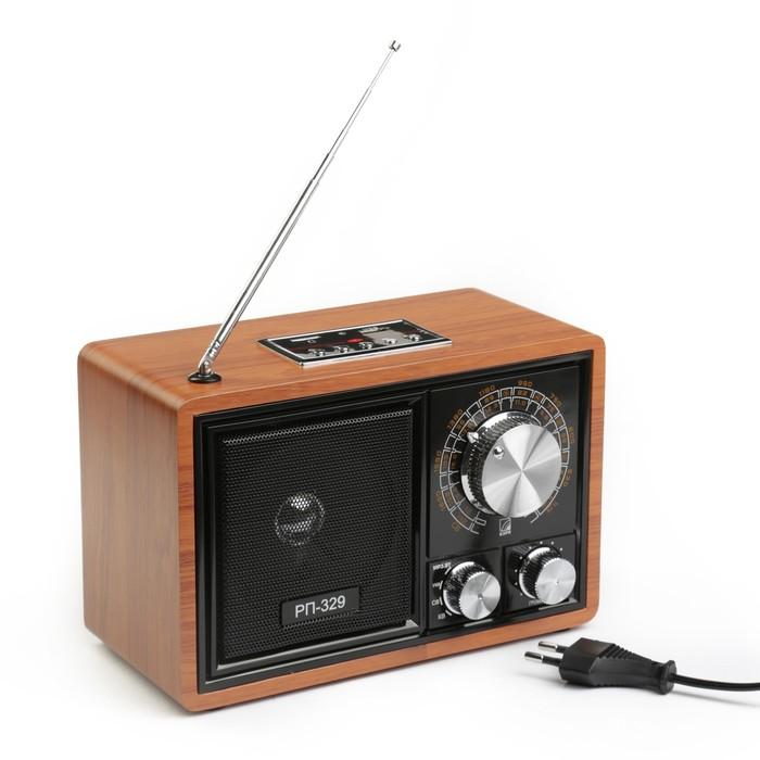 "Радиоприемник ""БЗРП"" РП-329, УКВ 64-108 МГц,US, microSD, AUX, BT"
