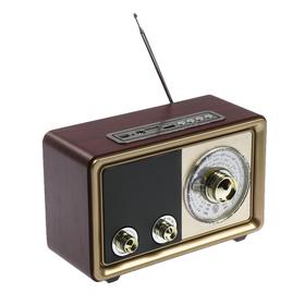 Радиоприемник 'БЗРП' РП-324, УКВ 64-108МГц, USB, microSD, AUX Ош