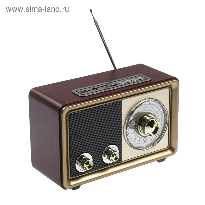 "Радиоприемник ""БЗРП"" РП-324, УКВ 64-108МГц, USB, microSD, AUX"