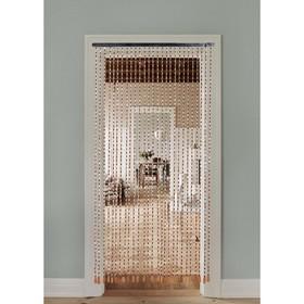 Занавеска декоративная «Крапинка», 90×175 см, 27 нитей, дерево Ош