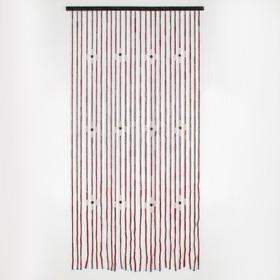 Занавеска 85×167 см 'Цветы', 27 нитей, дерево Ош