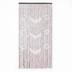 Занавеска 85×170 см 'Галочки', 27 нитей, дерево, цвет МИКС Ош