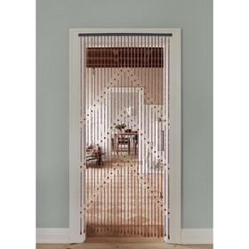 Занавеска декоративная «Волны», 90×175 см, 27 нитей, дерево Ош