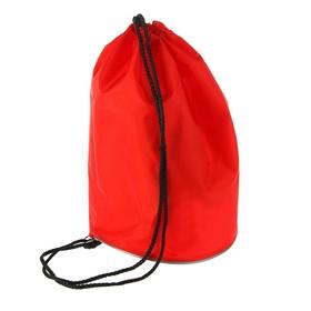 Мешок для обуви и мячей «Стандарт», круглое дно, 360х220 мм, красный