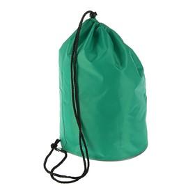 Мешок для обуви и мячей «Стандарт», круглое дно, 360х220 мм, зелёный