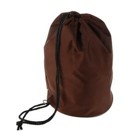 Мешок для обуви и мячей «Стандарт», круглое дно, 360х220 мм, коричневый