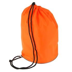 Мешок для обуви и мячей «Стандарт», круглое дно, 360х220 мм, оранжевый Ош
