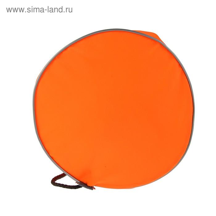 Мешок для обуви и мячей «Стандарт», круглое дно, 360х220 мм, оранжевый