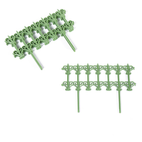 Декоративный забор для дачи и сада, 25 × 180 см, 5 секций, пластик, салатовый, «Классика» Ош