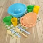 Набор посуды «Праздничный»: 4 стакана, 4 кружки, 4 тарелки, миска 3,5 л, 4 вилки, 4 ложки, цвет МИКС - Фото 10