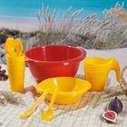 Набор посуды «Праздничный»: 4 стакана, 4 кружки, 4 тарелки, миска 3,5 л, 4 вилки, 4 ложки, цвет МИКС - Фото 11