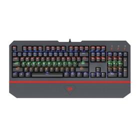 Клавиатура Redragon Andromeda RU, игровая, проводная, механическая, подсветка, USB, черная