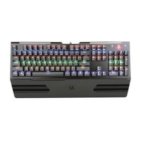 Клавиатура Redragon Hara RU, игровая, проводная, механическая, 104 клавиши, USB, чёрная