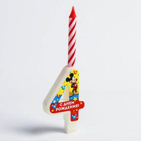 Свеча в торт цифра Дисней '4', Микки Маус Ош