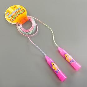 Скакалка детская «Лучше всех», цвет розовый Ош