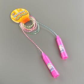 Скакалка детская «Мяу», цвет розовый Ош