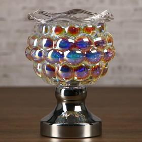 """Аромасветильник стекло сенсор """"Перламутровый шар. Шесть граней"""" лампа G4 220В 16,5х11х11 см"""