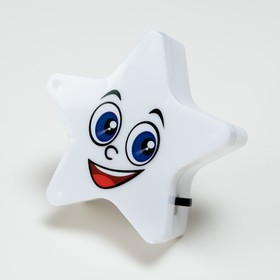 Ночник пластик LED 'Звёздочка' МИКС 8х8х2,5 см Ош